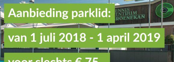 Aanbieding Parklid –  NOV 2018 – APRIl 2019