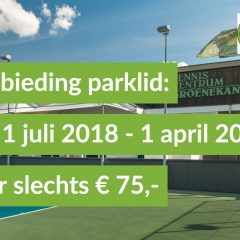 Aanbieding Parklid –  NOV 2018 – APRIl 2019