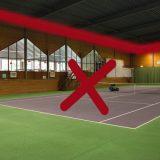 Nu t/m 9 februari geen indoortennis!
